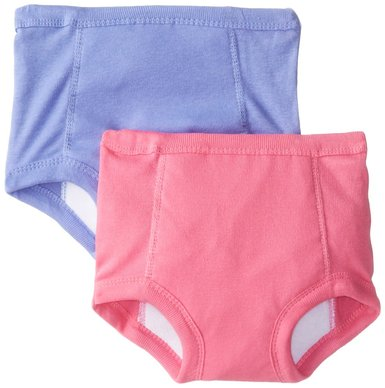 Jockey Little Girls Girls Toddler 2 Pack Training Pants with Waterproof Liner