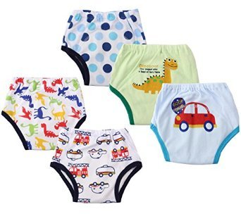 Dimore Baby Toddler 5 Pack Assortment Cotton Training Pants