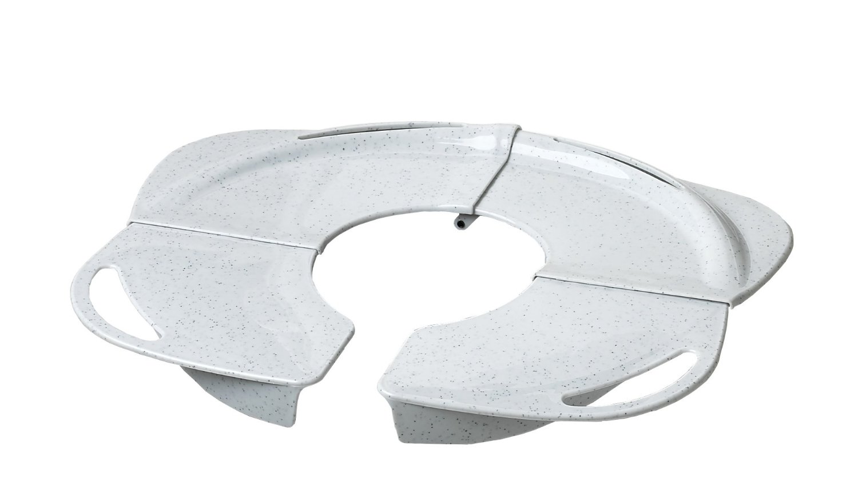 PRIMO Folding Potty with Handles White granite